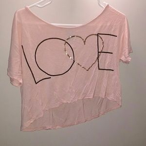 Pink cotton boxy top